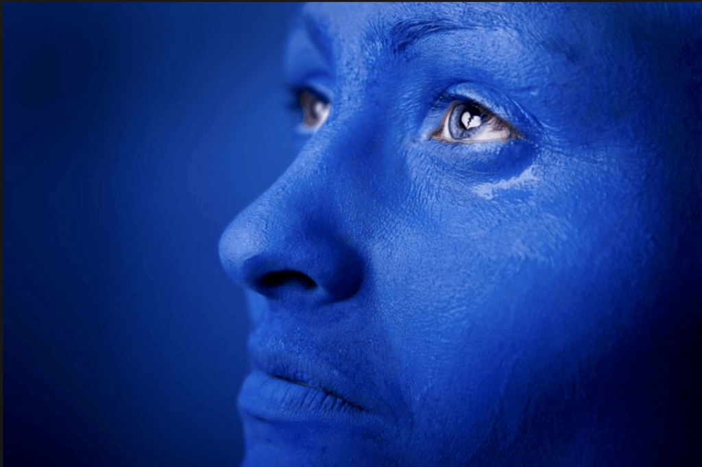 Exaggerated Take on Blue Vision