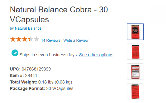 Cobra Pills Price
