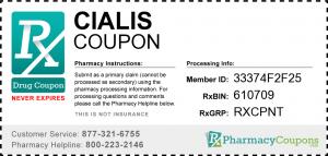 Cialis coupon