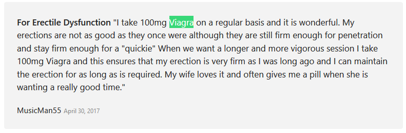Viagra Reviews