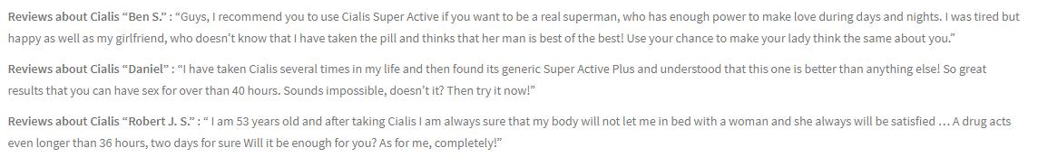 Cialis Super Active Plus Reviews